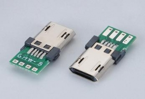 China USB Connector Male 10Pin With PCB on sale