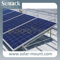 China SunRack Solar Panel Triangular Mounting Systems For Flat Roof on sale