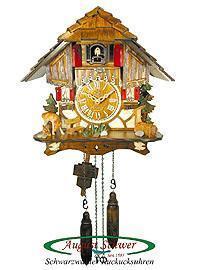 China Item:8481033 Quarz Cuckoo Clock Timberframe Chalet, Deer, Music, 10.2 inch Quarz Cuckoo Clocks on sale