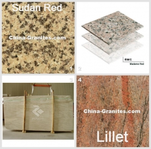 China Granite Sudan Red Medallion Square 50X50Cm And China Tiles Granite Tiles Madame Red on sale