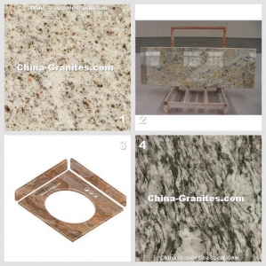 China China Stone Red Spot Grain And China Counter Tops Kitchen Counter Tops Golden Cremar on sale