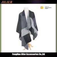China Winter Fashion jacquard plaid print big size 100%acrylic scarves,women pashmina shawl on sale