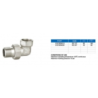 Press Fitting-A1/U 81E180 Angle fitting in 3 pieces