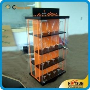 China Factory wholesale clear acrylic rotating watch display case on sale