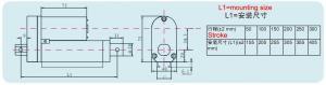 China BSTGA-X 12V dc linear actuator 24v electric motor 36v 48v Tubular motor Manually adjust stroke on sale