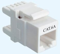 China Networking Accessories Cat.6A 180D Unshielded Keystone Jack on sale