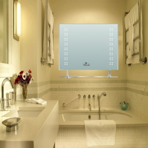 China Bathroom Mirror LED mirror with temperd glass shelf 82009 on sale