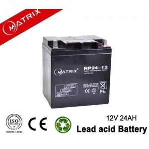 China Rechargeable Sealed Lead Acid Battery 12V 24AH For Automatic Office System on sale