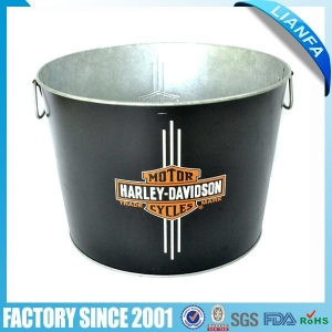China Metal Bucket & Basin 【BU-45】23L Galvanized large Ice Bucket on sale