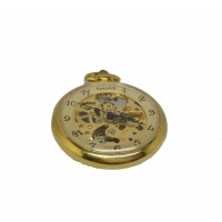 Stainless Steel Style Mechanical Skeleton Gold Pocket Watches Fashional Pendant Watch