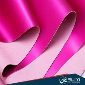 China 1.0-1.8mm high properties Nylon pu microfiber base leather for Europe market on sale