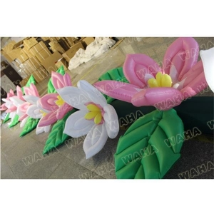 China Wedding Stage Decorations Beautiful Inflatable Flower Chain String on sale