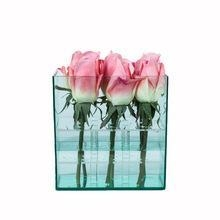 China Big Hot Sale 9 Roses Arrangement Square Acrylic Flower Box on sale