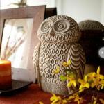 resin unique owls statues Item ID: # 8477