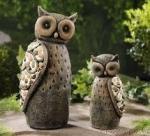 resin owls statues Item ID: # 8474
