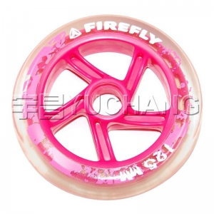 China 125x24 Transparent PU Pink Cyclone Buckled Wheel 90-HR-90A on sale