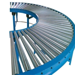 China 90 Degree Curved Roller Conveyor on sale