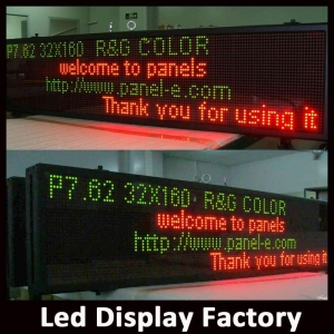 China Product:P7.62 RG dot matrix indoor programmable led sign on sale