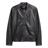 China men-Jacket Winter Men's Black leather jacket on sale