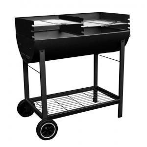 China Barrel cylinder metal large batch adjustable charcoal Barbecue Grill on sale