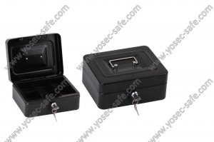 China cash boxes and safes with key locks on sale