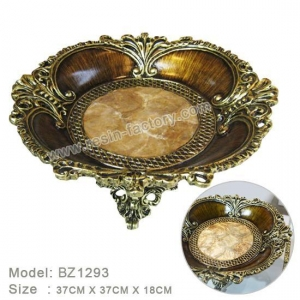 China D:Bronze item Classic Resin Craft Fruit Bowl BZ1293 on sale