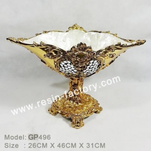China B:Gold plated and seashell item Golden Plate Fruit trays GP496 on sale