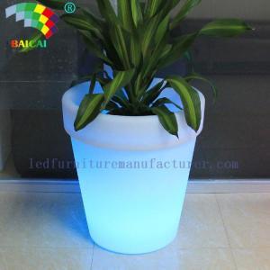 China outdoor garden decorative illuminated planter pots BCG-914V on sale