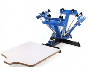 China 4 Color 1 Station Screen Printing Press machine Silk screen T-Shirt clothes printerBY-SY401 on sale