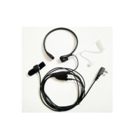 Throat microphone with finger PPT for Kenwood