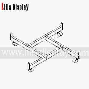 China Lilladisplay gridwall four way base chrome 22407 on sale