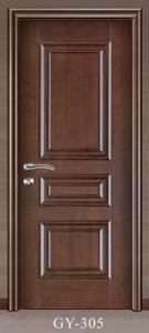 China VENEERED&PAINTING Veneered on Molded Skin GY-305 PVC MDF DOOR on sale