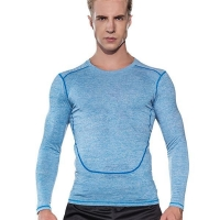 Mens fitness apparel compression dry fit long sleeve sportswear