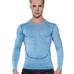 China Mens fitness apparel compression dry fit long sleeve sportswear on sale