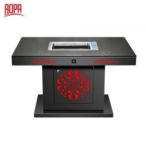 China AOPA Steel Hot Pot and Korean BBQ Grill Table 2 in 1 Z67B-1 on sale