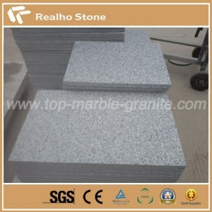 China Mid Grey G603 Flamed Granite Tiles For Outdoor Paving on sale