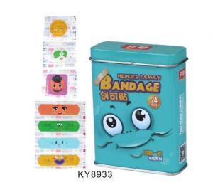 China Tin Box Pack Cartoon PE Bandage For Pharmacy Sale on sale