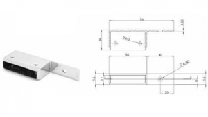 China 50X10MM SYSTEM BALUSTRADE MODULAR WALL TIE OFFSET 40MM on sale