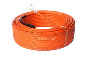 China Underfloor heating cable single conductor 18.5w/m orange on sale