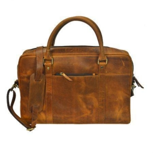 China Genuine Crunchy Hunter Leather Laptop Portfolio Bag on sale