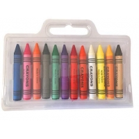 12pcs of Jumbo Crayons with double blister tray packed