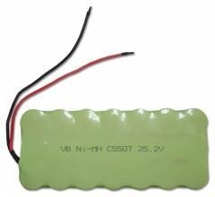 China Lighting & Industrial YLB-NiMH C Size 24V 5000mAh Rechargeable Industrial Battery Pack C Size on sale