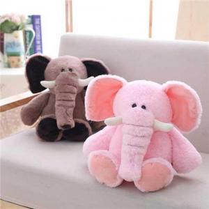 China Elephant Stuffed Animal Plush Toys 4 Color on sale