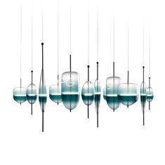 China Modern Designer Stair Led Acrylic Pendant Lighting Chandeliers on sale