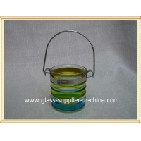 Glass printing Hanging glass votive holder
