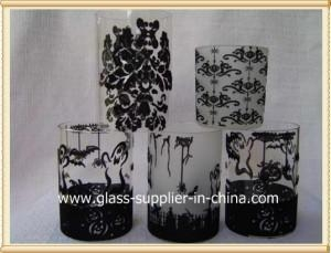 China Glass printing Halloween glass gift on sale