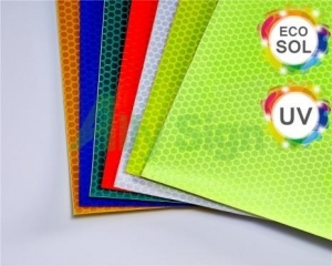 China Flexible Solvent Or Eco-solvent Printing Self Adhesive Reflective Vinyl on sale