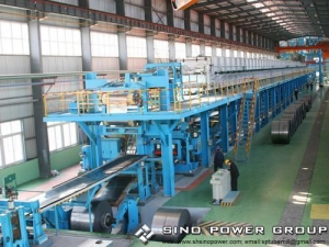 China Steel Coil Color Coating Line Hot Dip Coil Galvalume Line on sale