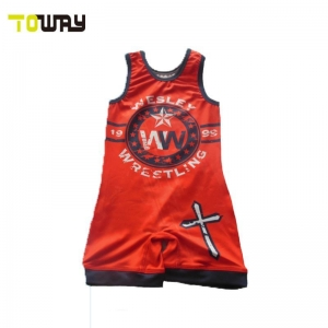 China custom wrestling singlets on sale