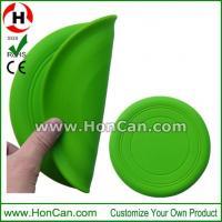China Wholesale custom printed logo foldable silicone frisbee on sale